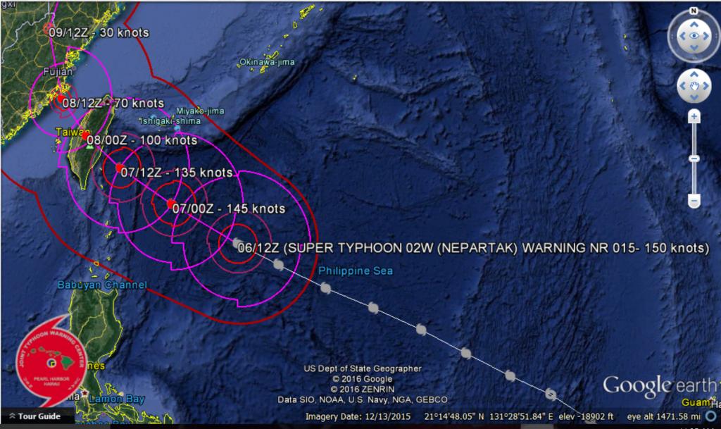 JTWC track forecast