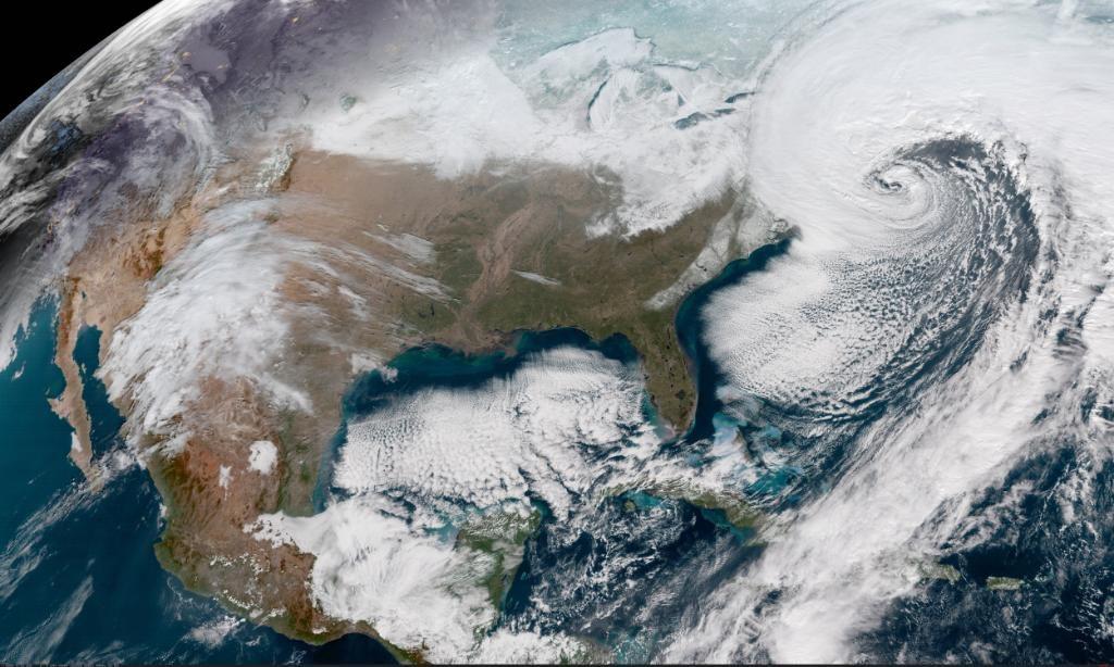 NOAA color satellite image